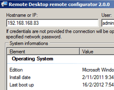 Remote Desktop Remote Configurator
