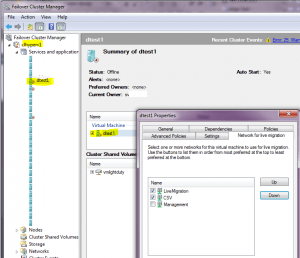 LiveMigration Network Selection on 2008 R2