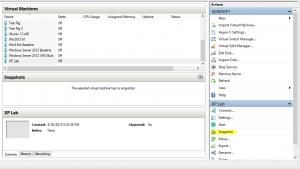 create snapshot hyper-v manager