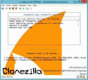 Clonezilla Welcome