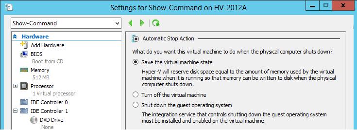 hyper v machine management service