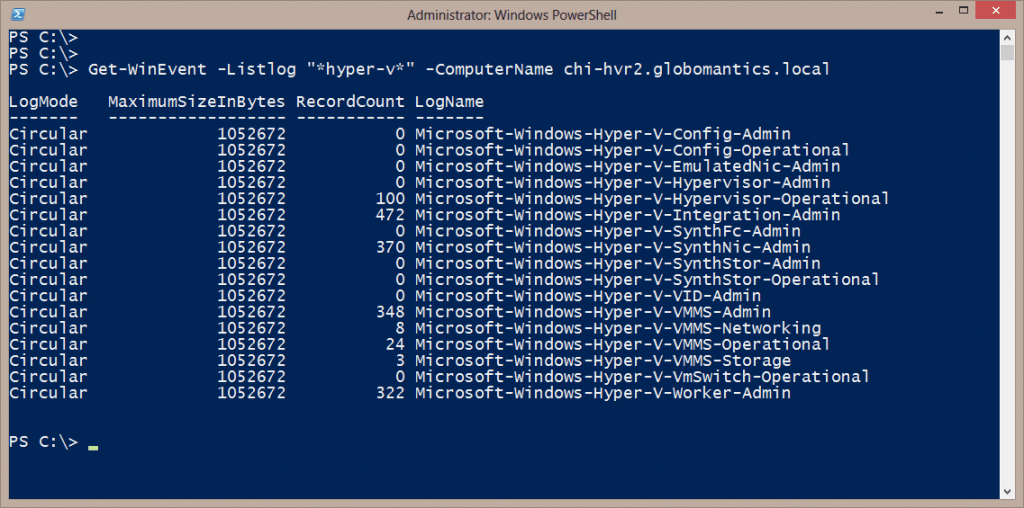 all hyper-v logs in event viewer