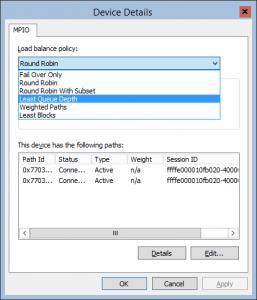 MPIO Disk Policy