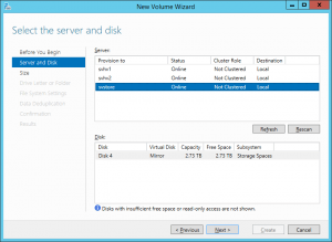 Disk and Server Selection