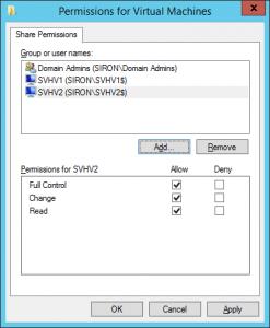 SMB 3 Share Permissions