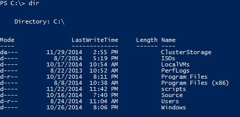 PowerShell Directory Listing