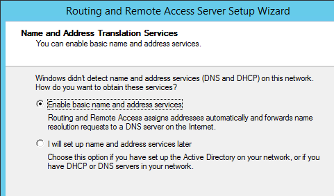 RRAS Name Services