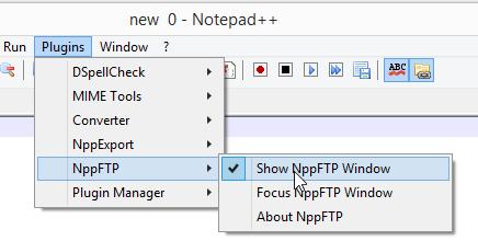 NPP FTP Window Selector