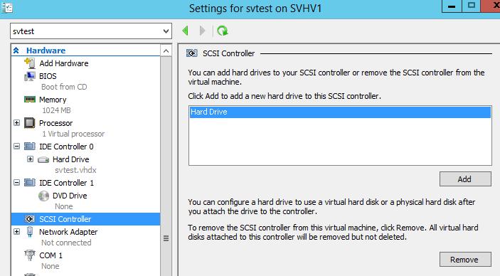 SCSI Options