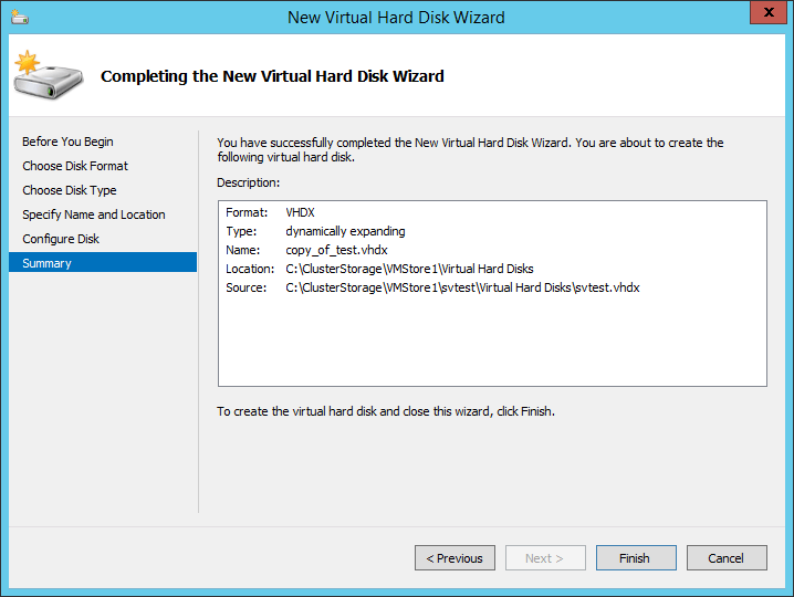 hyper v how to move a vhd