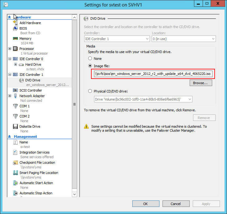 ISO on Remote Storage