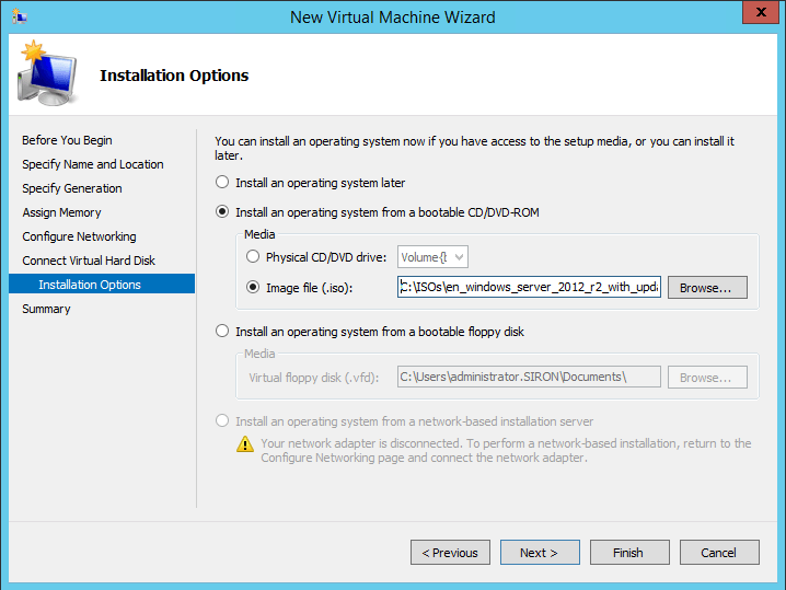 ISO Attachment During VM Creation