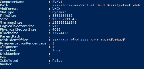 Get-VHD on a VHDX that Contains a Basic Disk