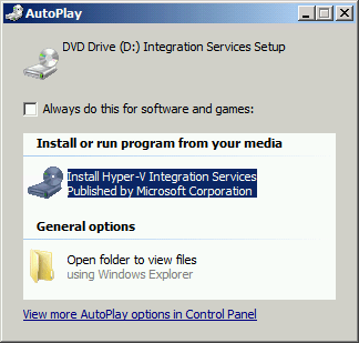 Integration Services Autoplay