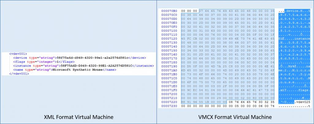 Old vs. New Hyper-V VM Definition Files