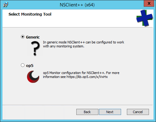 NSClient++ Monitoring Option