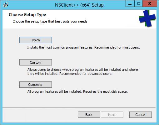 NSClient++ Setup Type