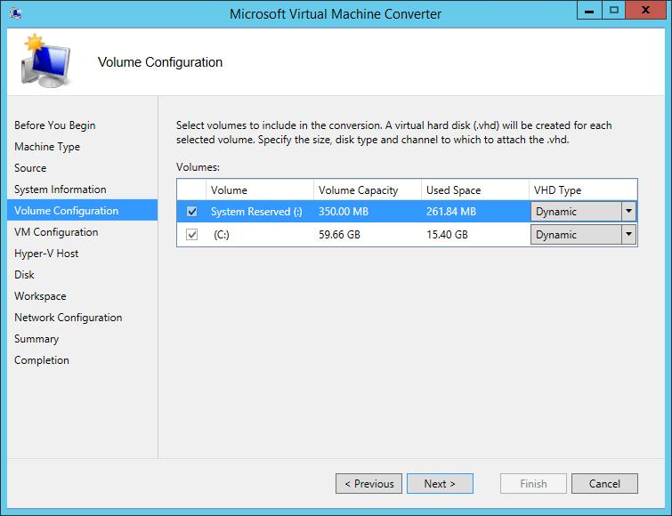 MVMC Disk Selection