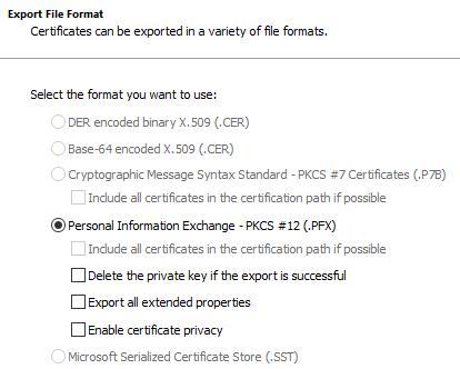 Certificate File Format