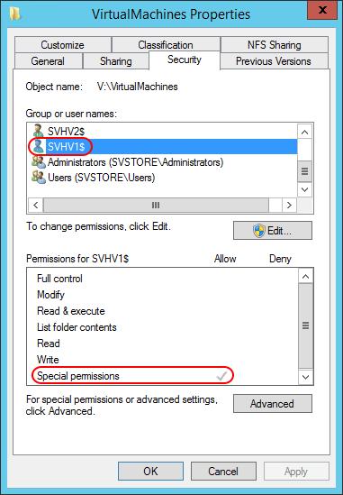 broken ntfs settings