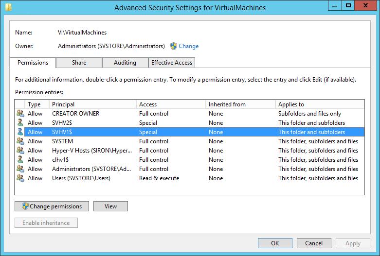 broken ntfs advanced settings