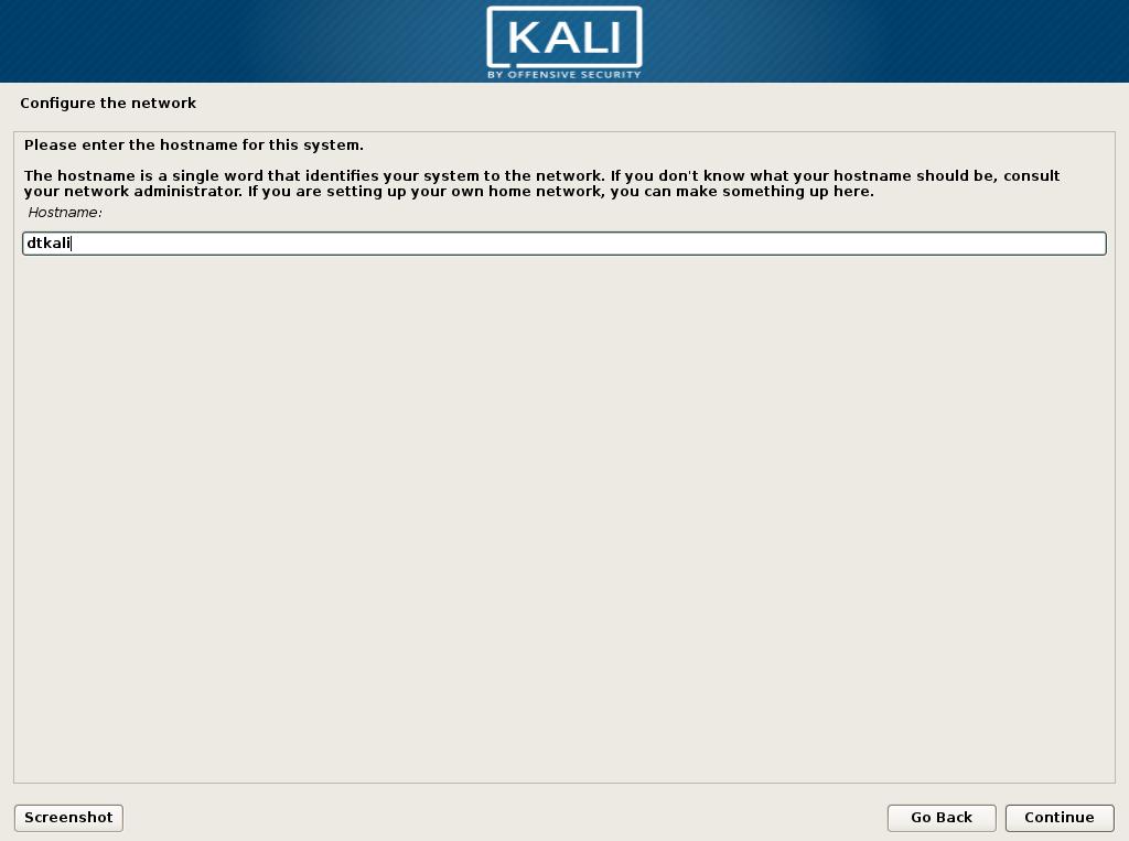 kali linux network