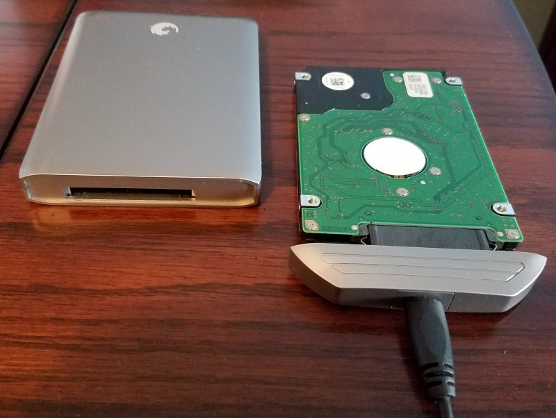 how I connected the hard drive