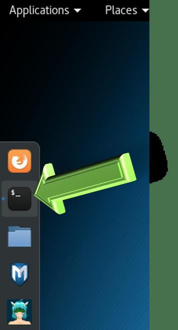 Kali Linux terminal launch