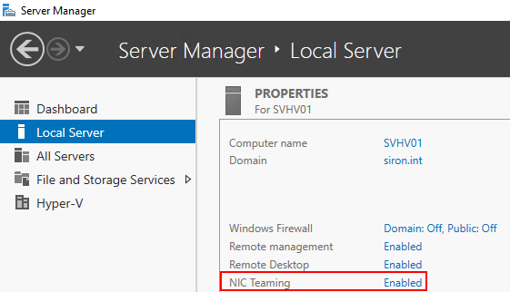 Using the GUI for Hyper-V Networking