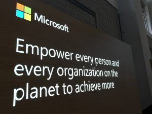 Inspirational message from Microsoft