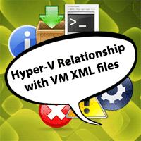 Hyper-V's relationship with virtual machine XML Files