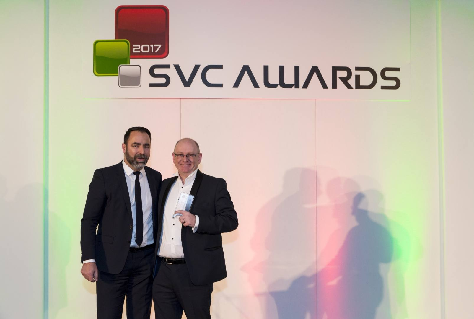 Colin Wright, VP Sales in EMEA for Altaro software, accepts the award