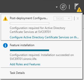 Configure Active Directory Certificate Services on the destination server