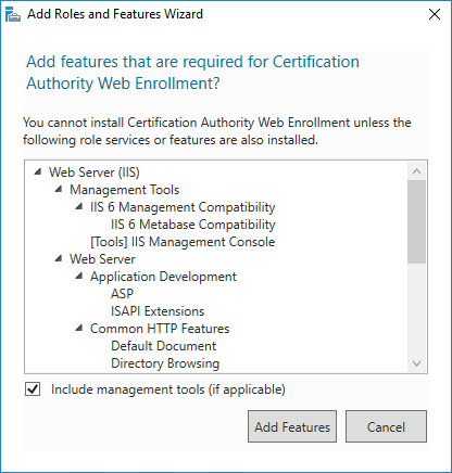 certification authority web enrollment