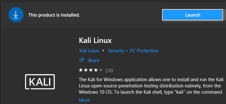 kali linux launch