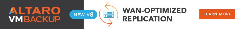 Altaro VM Backup v8 WAN Optimized Replication