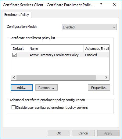 certificate services client enrollment
