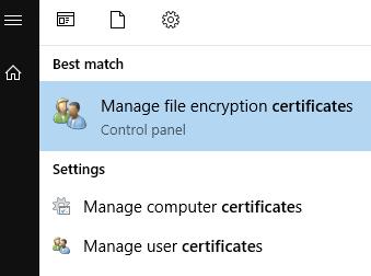 encryption certificates
