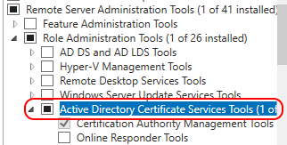 Active Directory Certificate Services Tools