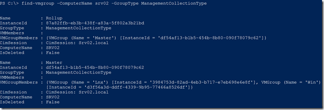 Finding specific VM Group types with PowerShell
