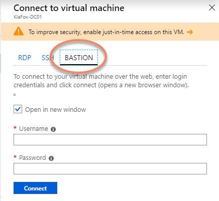 Virtual Machine Bastion