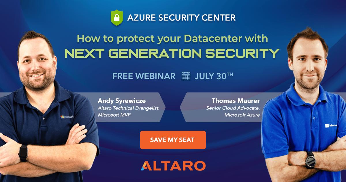 Azure Security Center Webinar