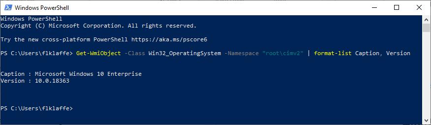 Windows 10 licencing, PowerShell