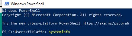 Windows 10 PowerShell System Info