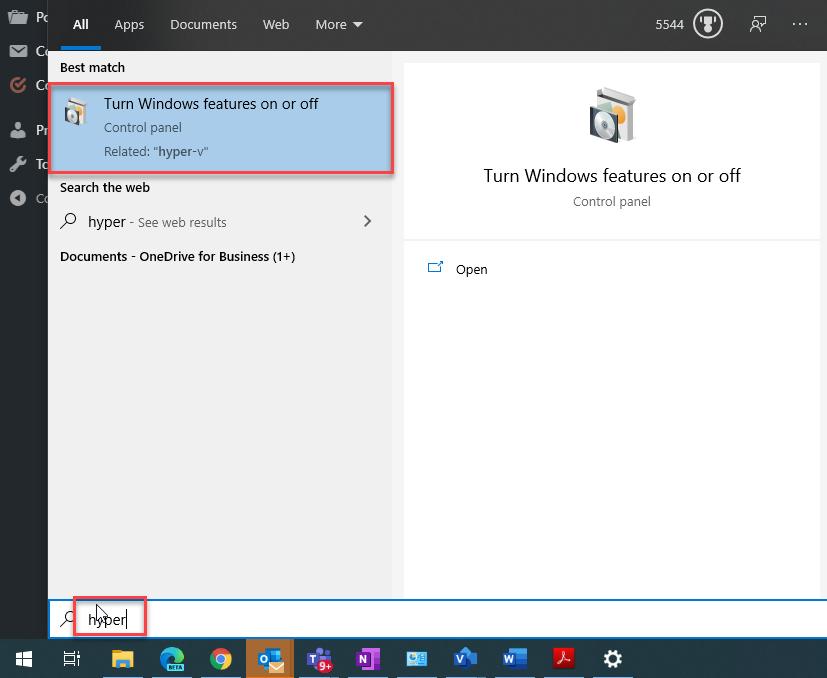 Hyper-V Installation Windows 10