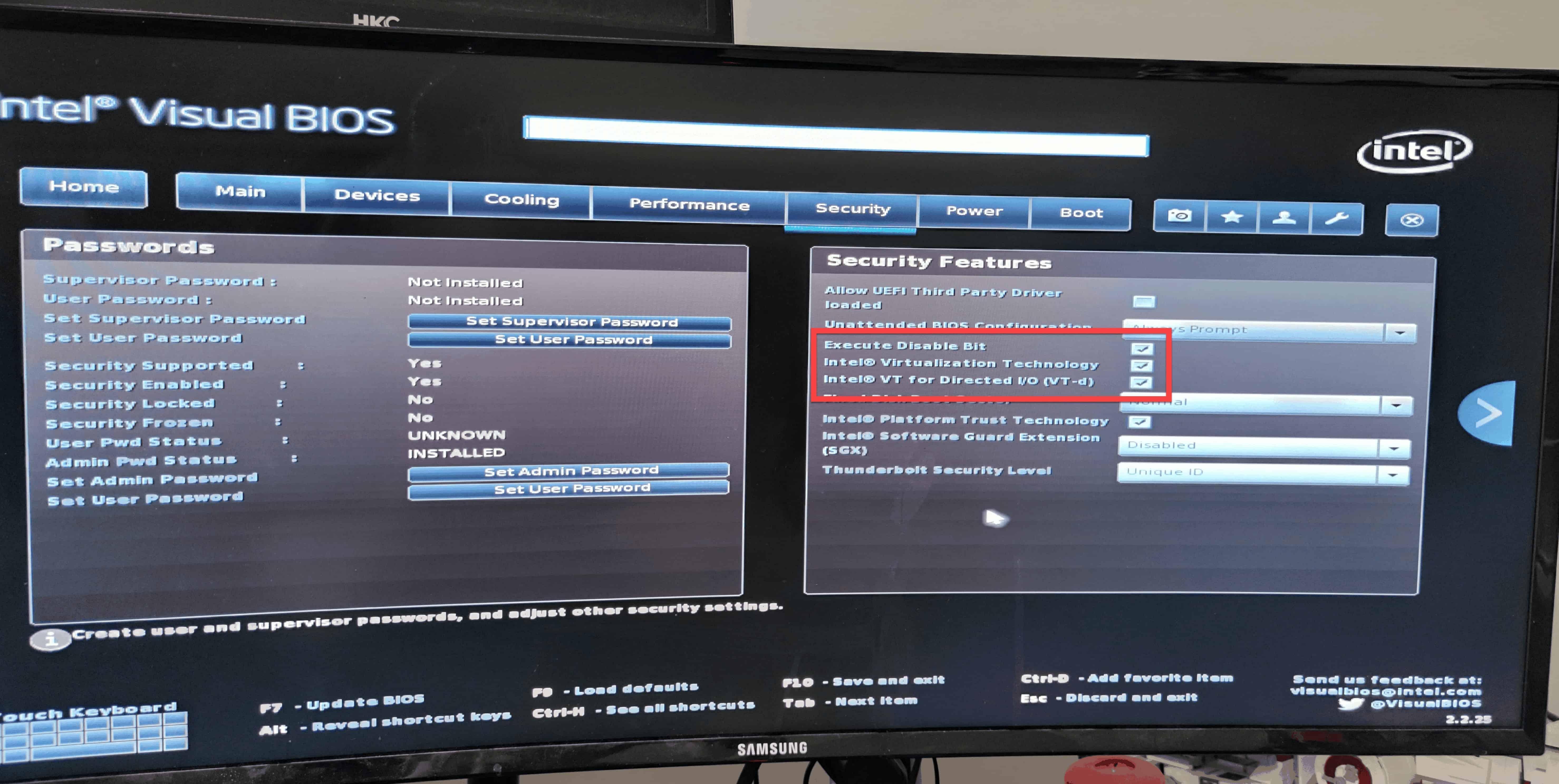 BIOS UEFI CPU settings Windows 10