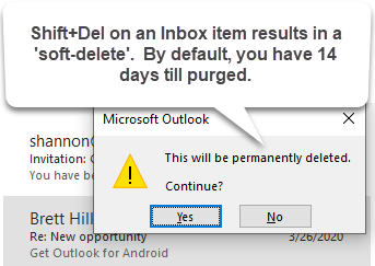Soft Deleting Items in Outlook