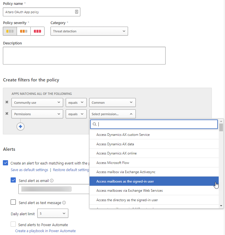 MCAS OAuth App Policy