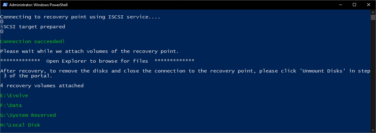 Script mounting drives for file recovery