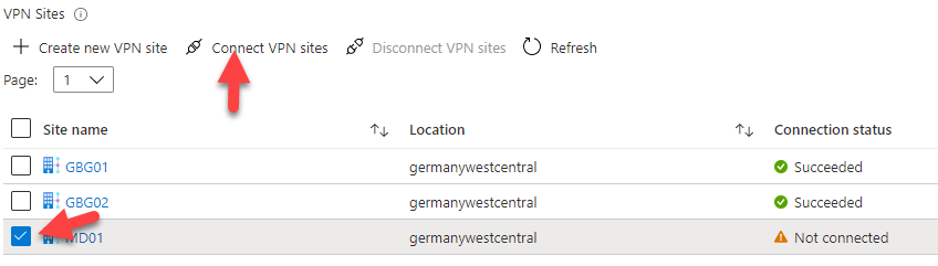 Connecting to a VPN site